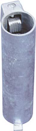 Schake Bodenhülse Stahl für Ø 76 mm Rohrpfosten - 300 mm mit Feststellvorrichtung - für Ø 76 mm Rohrpfosten (SK-473.31) Bild-01
