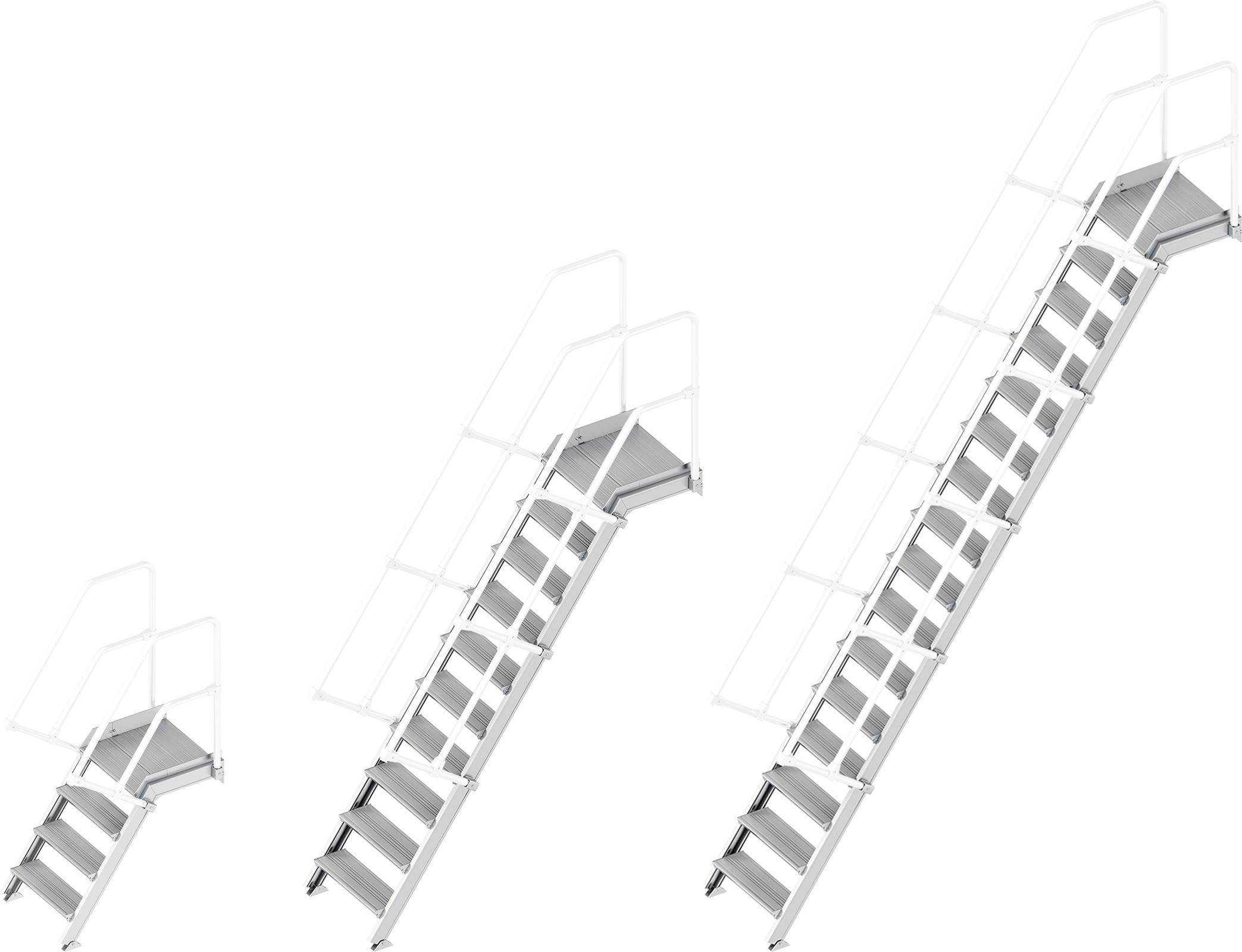 Layher Plattformtreppe 55° - 600 mm breit