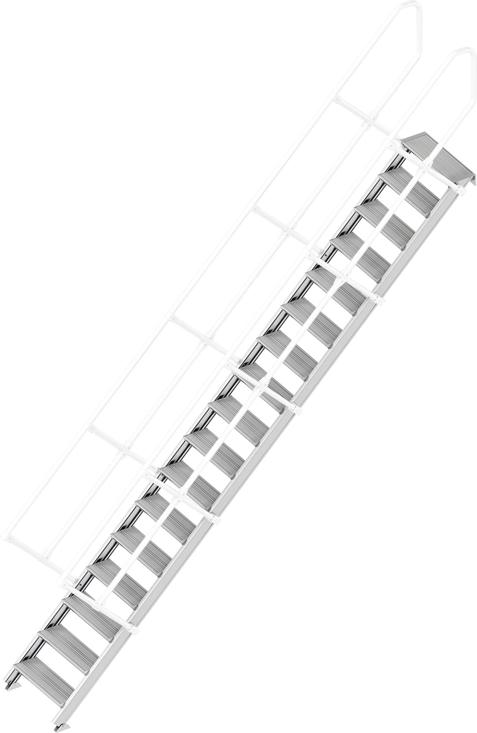 Layher Treppe 45° 17 Stufen - 600 mm breit