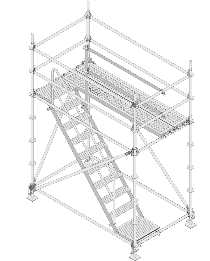 Zu unseren Treppentürmen aus Modulgerüsten