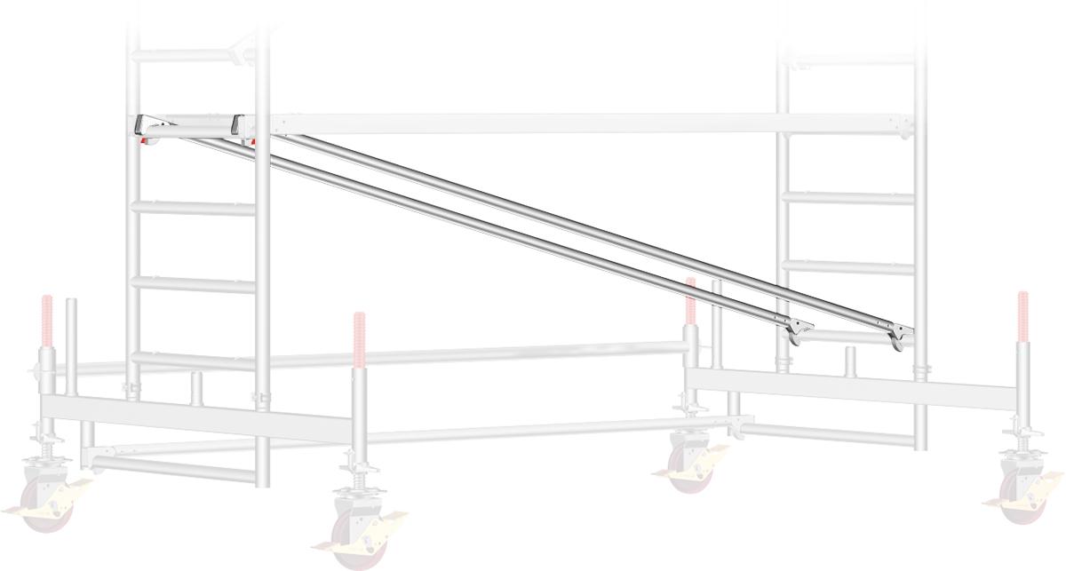 Fahrgerüst Layher Uni Breit P2 1402110 mit Diagonal-Optimierung