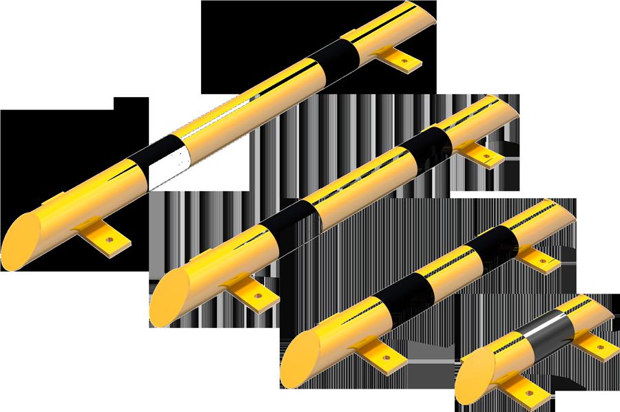 Schake Rammschutz-Balken Stahl Ø 76 mm gelb | schwarz