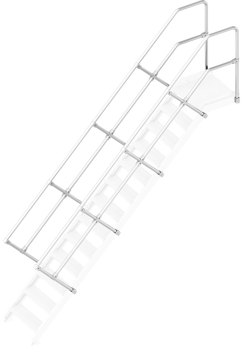 Layher Handlauf Geländer Plattformtreppe 45° 13 Stufen