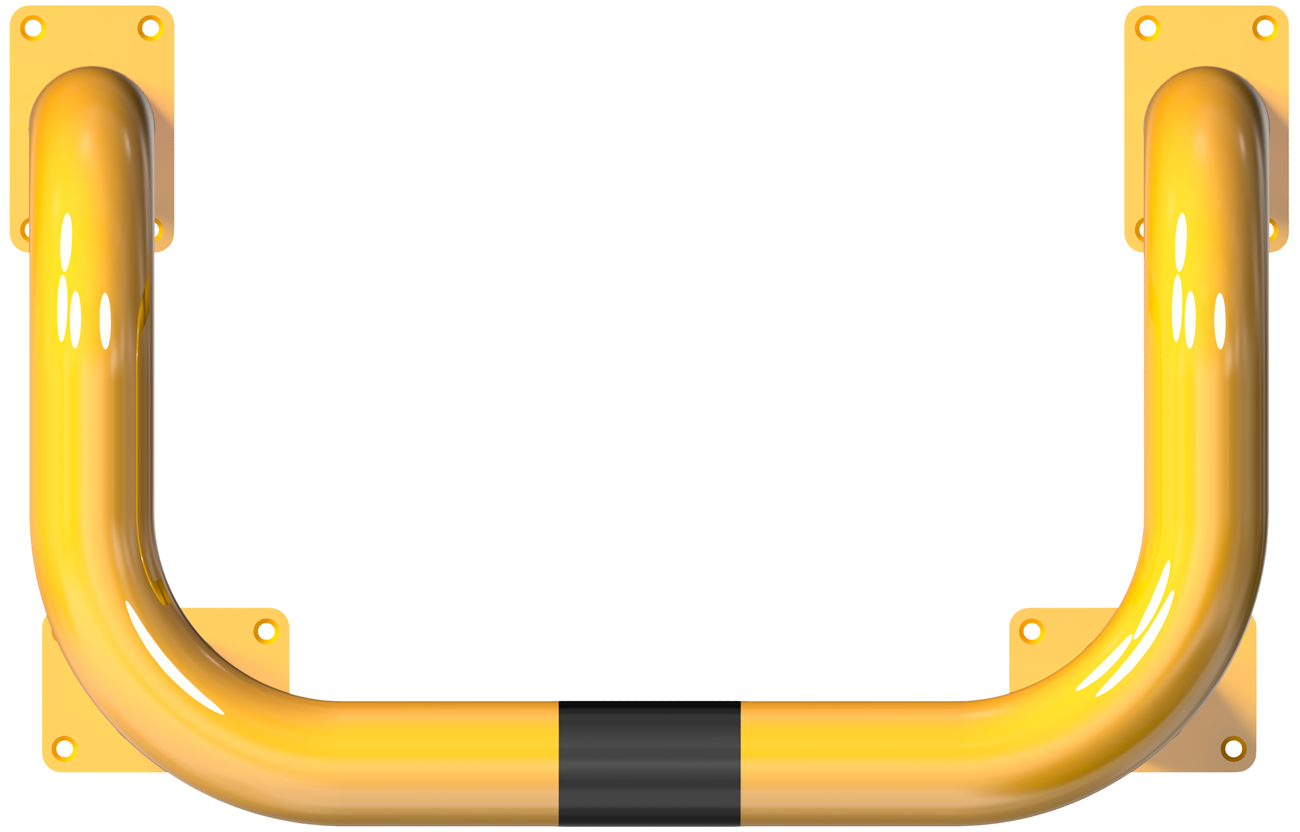 Schake Rammschutzbügel Stahl Doppelbügel Ø 76 mm - gelb | schwarz
