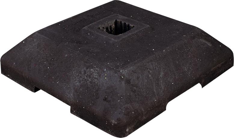 Schake Bakenständerfußplatten 12 kg