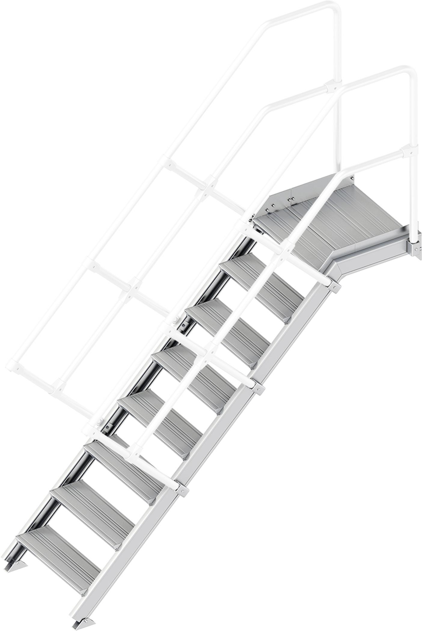 Layher Plattformtreppe 45° 8 Stufen - 600 mm breit
