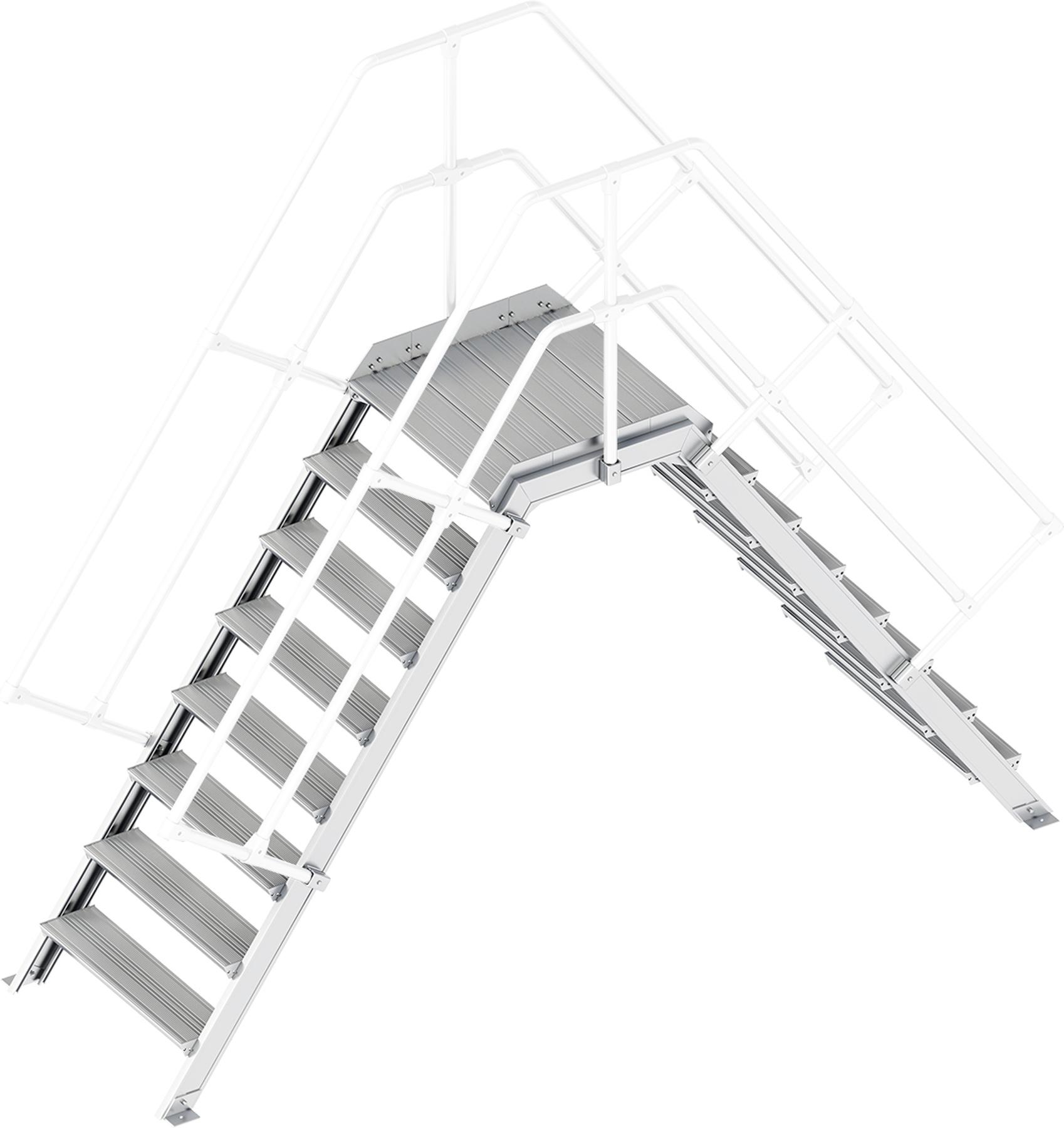 Layher Übergang 55° 8 Stufen - 800 mm breit