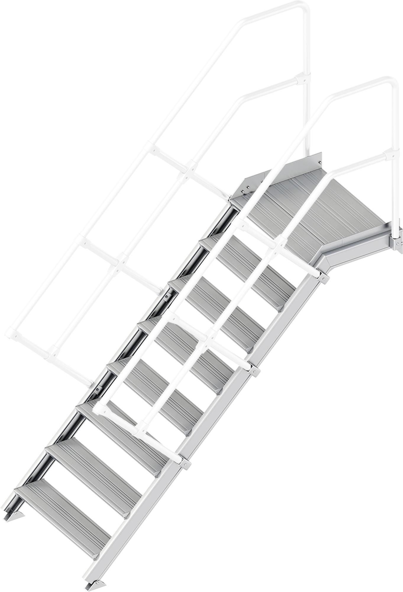 Layher Plattformtreppe 45° 8 Stufen - 800 mm breit