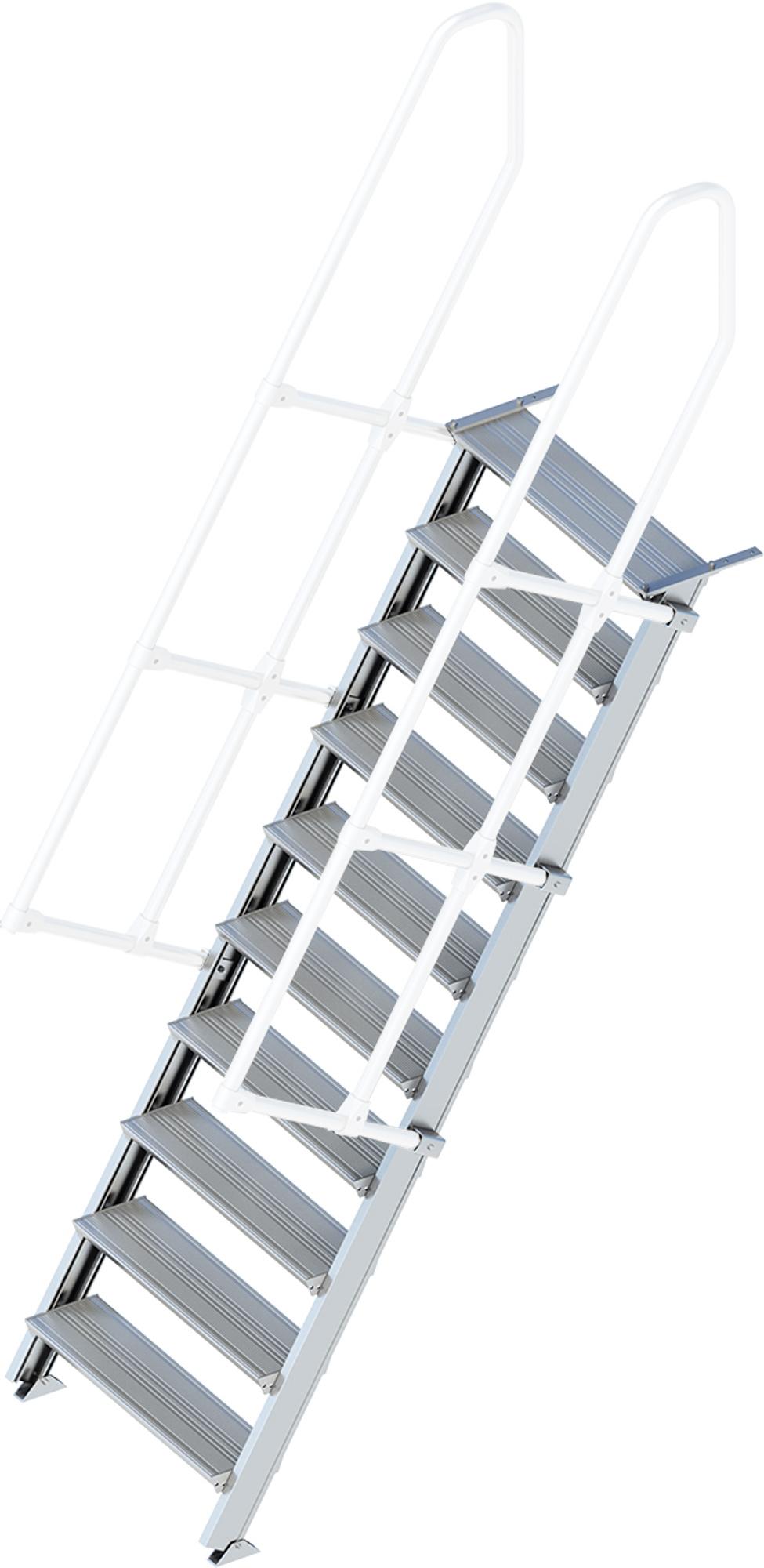 Layher Treppe 60° 10 Stufen - 800 mm breit