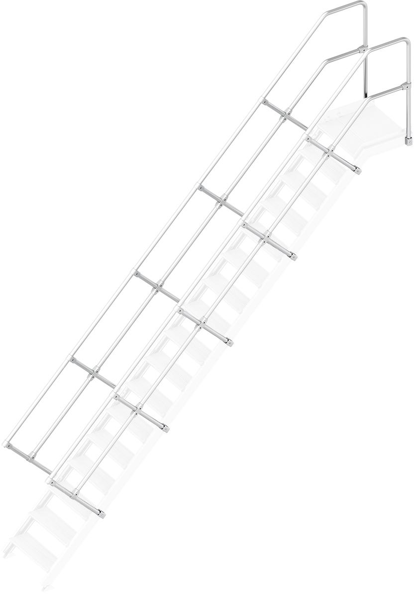Layher Handlauf Geländer Plattformtreppe 45° 17 Stufen