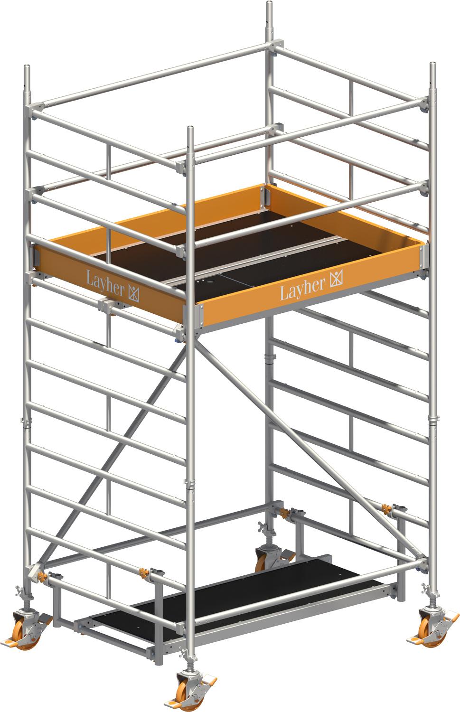 Fahrgerüst Layher Uni Kompakt P2 1405002 mit Diagonal-Optimierung