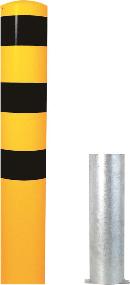 Schake Stahlrohrpoller Ø 193 mm gelb   schwarz