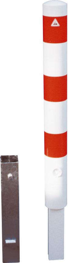 Schake Absperrpfosten Stahl Ø 102 mm weiß | rot