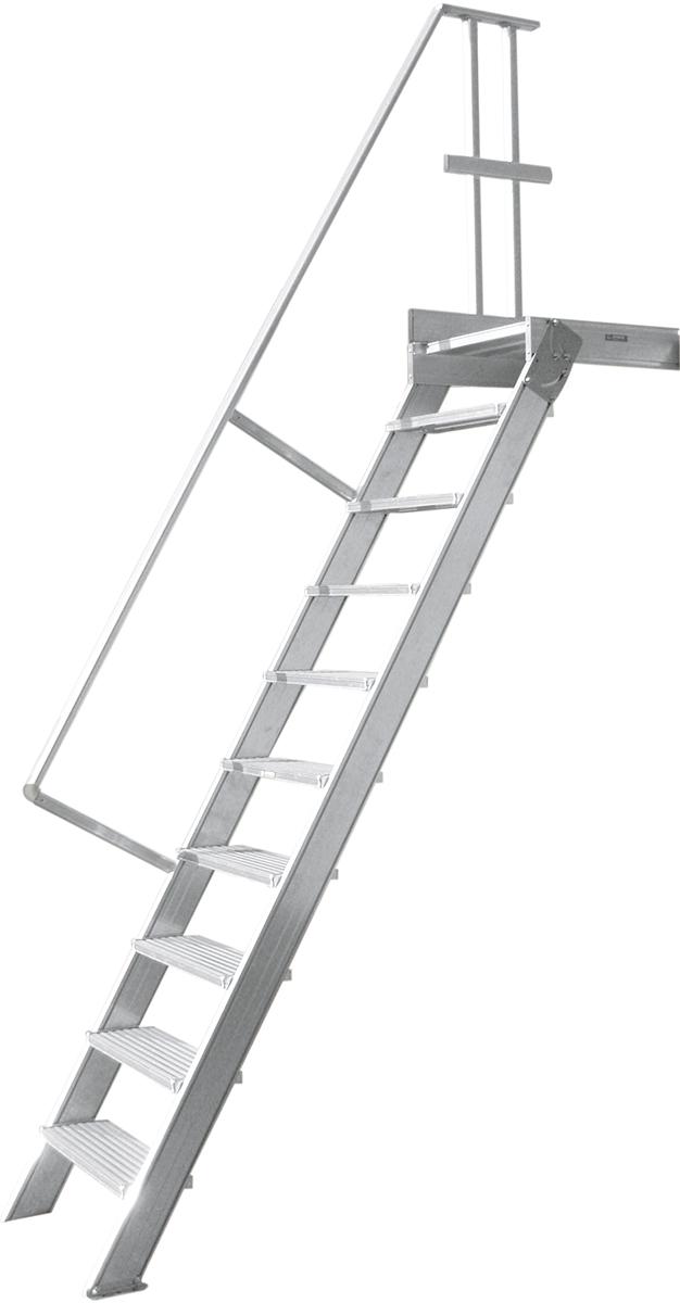 Hymer Podesttreppe 60° - 1000 mm breit - mit einem Handlauf
