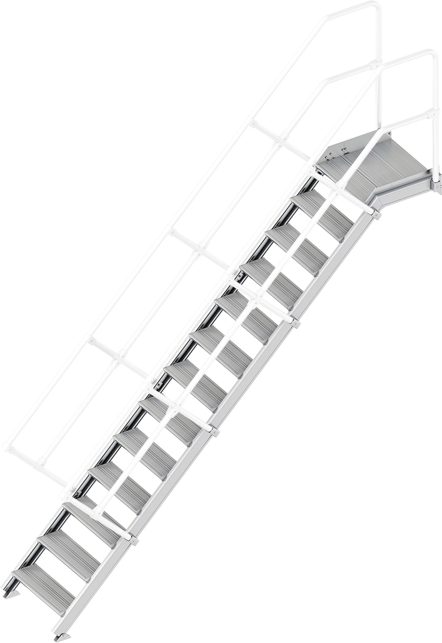 Layher Plattformtreppe 45° 13 Stufen - 600 mm breit