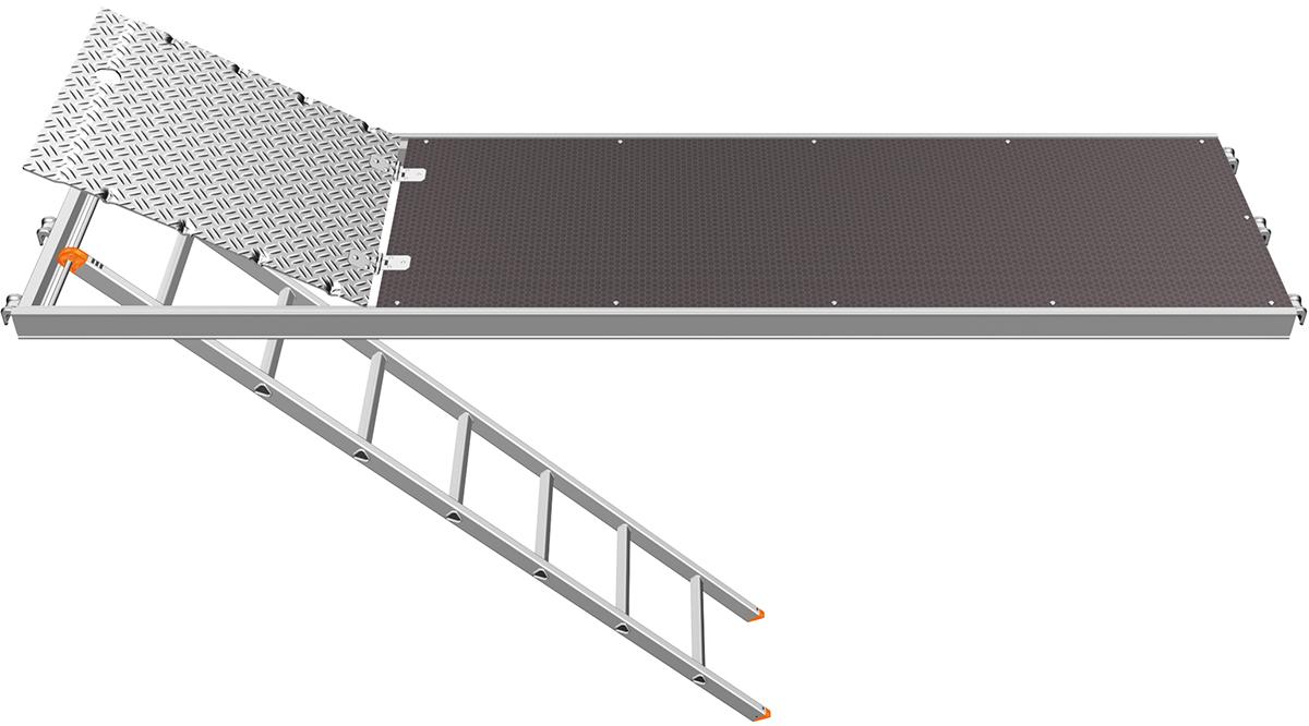 Layher U-Xtra-N-Durchstieg 3,07 x 0,61 m mit integrierter Etagenleiter
