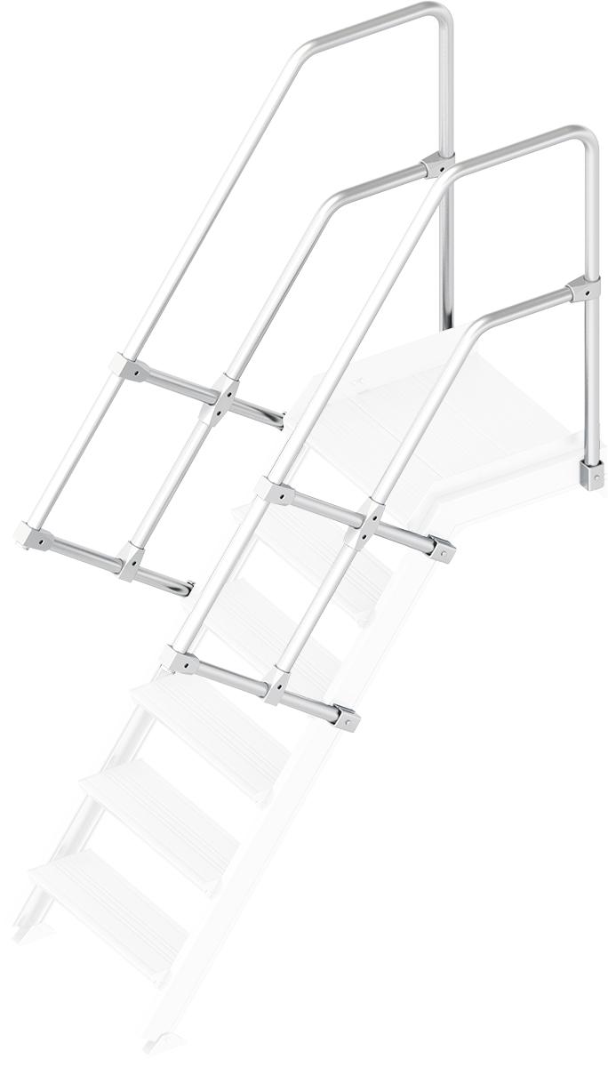 Layher Handlauf Geländer Plattformtreppe 55° 6 Stufen