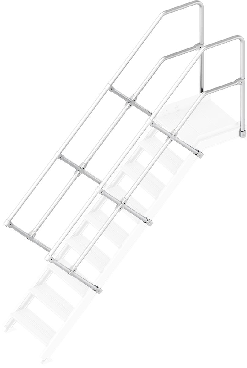 Layher Handlauf Geländer Plattformtreppe 45° 9 Stufen