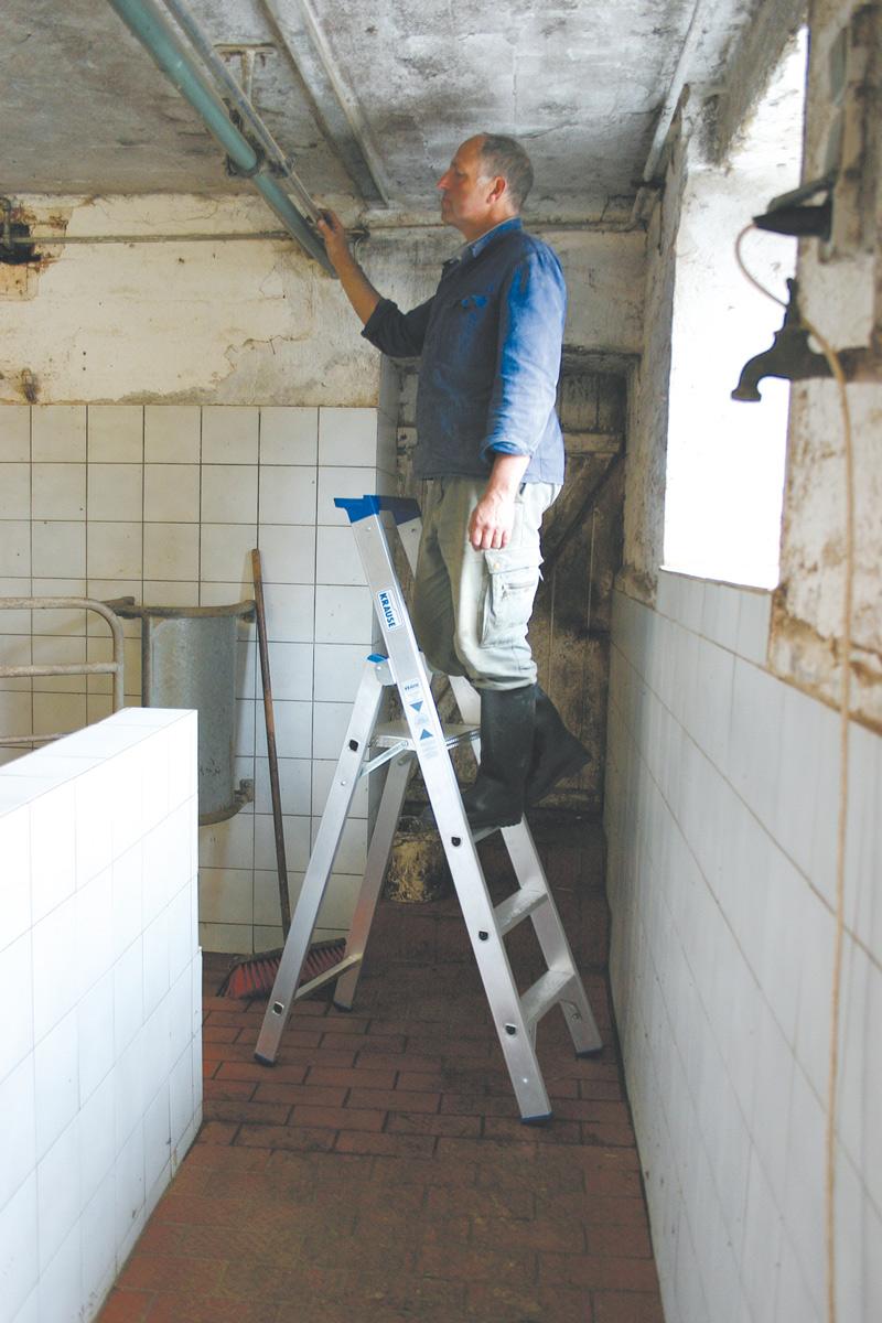 Krause Alu-Stufenstehleiter 4 Stufen