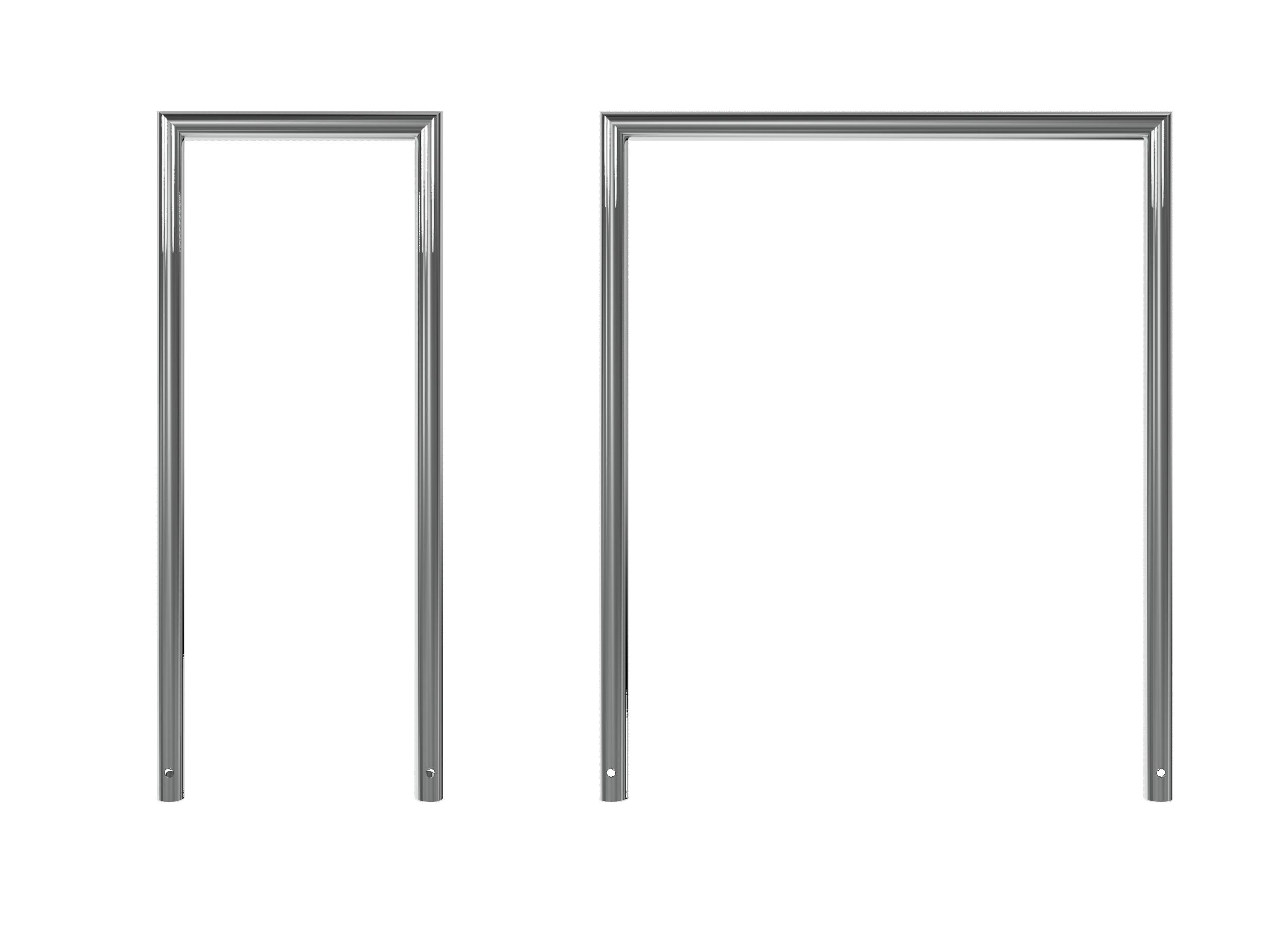 Schake Rohrbügel Edelstahl Ø 48 mm - auf Gehrung geschweißt
