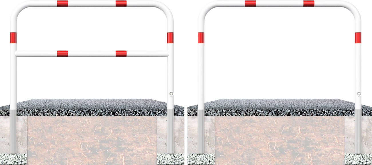 Schake Wegesperre Stahl Ø 60 mm weiß | rot