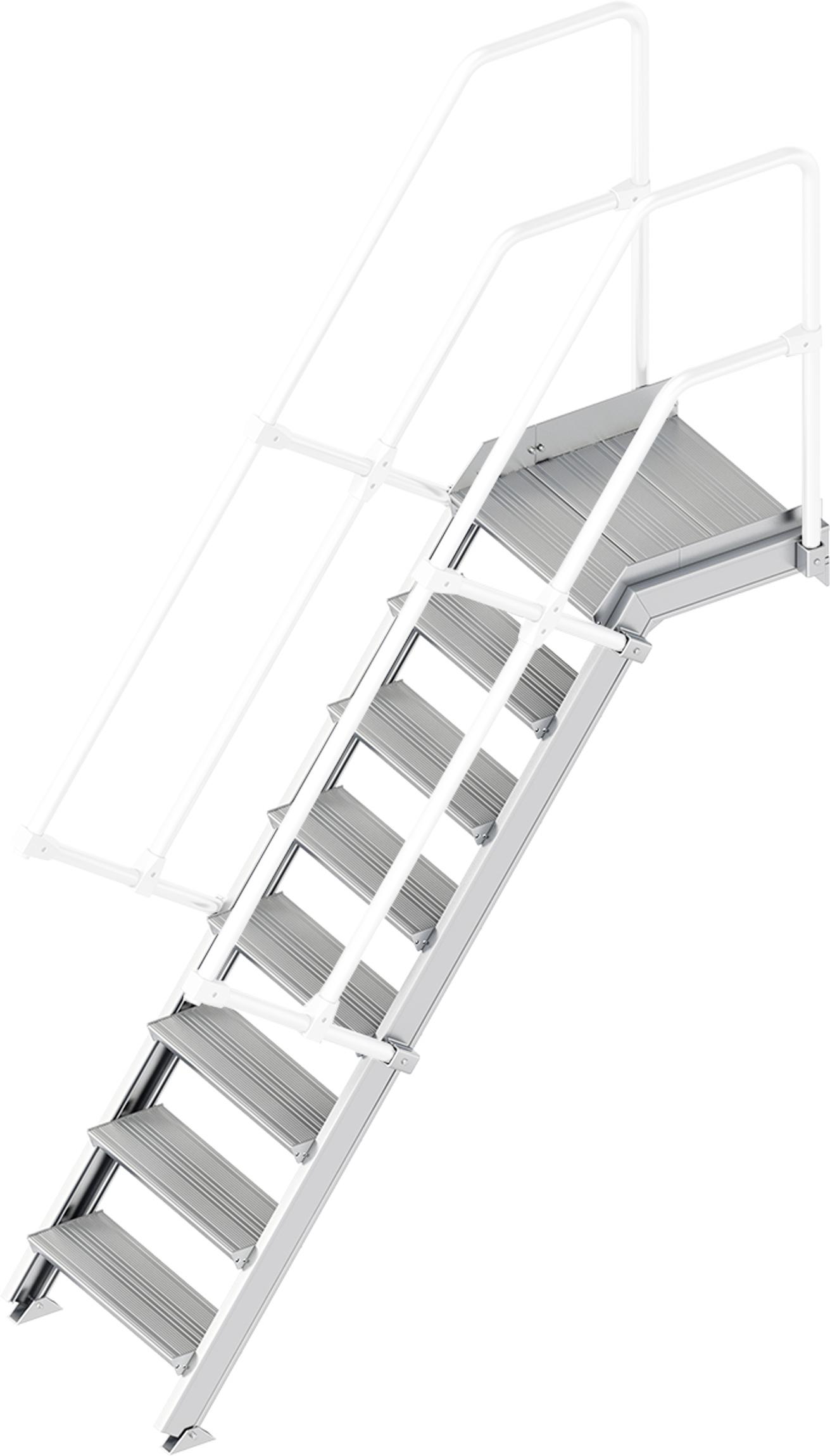 Layher Plattformtreppe 55° 8 Stufen - 600 mm breit