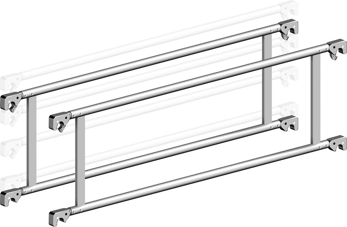 Fahrgerüst Layher Uni Kompakt 5008 mit Geländer-Optimierung