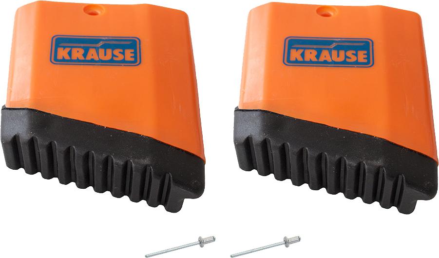 Krause MONTO TeleMatic Leiter Fußkappe links Kappe mit Blindnieten - für Außenteil der TeleMatic Leiter (KR-212467) Bild-01