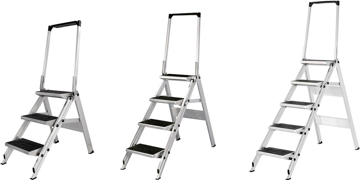 Hymer Sicherheitstreppe mit Bügel 3 - 5 Stufen