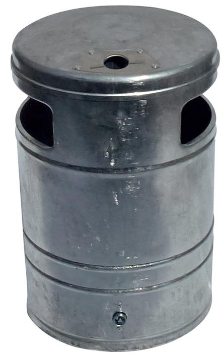 Schake Abfallbehälter rund mit Ascher - 40 Liter