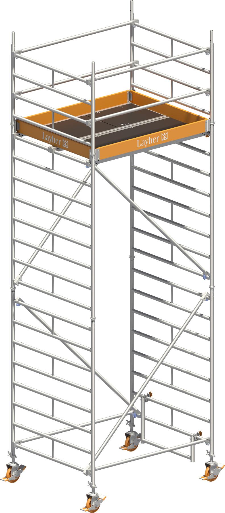 Fahrgerüst Layher Uni Kompakt 5004 mit Geländer-Optimierung