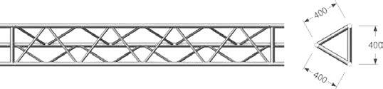 Layher Dreieck-Gitterträger Alu
