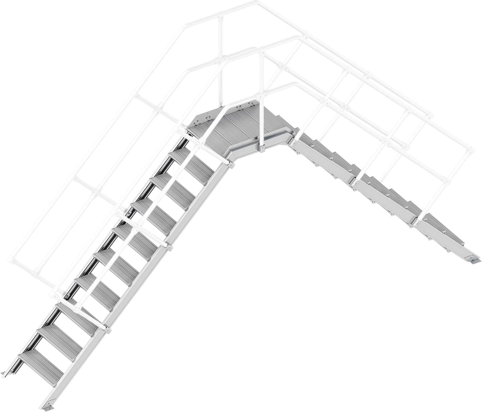 Layher Übergang 45° 10 Stufen - 600 mm breit