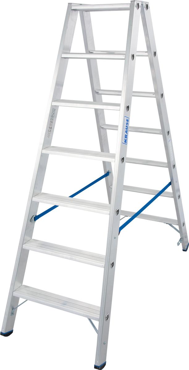 Krause Alu-Stufendoppelleiter 2x7 Stufen