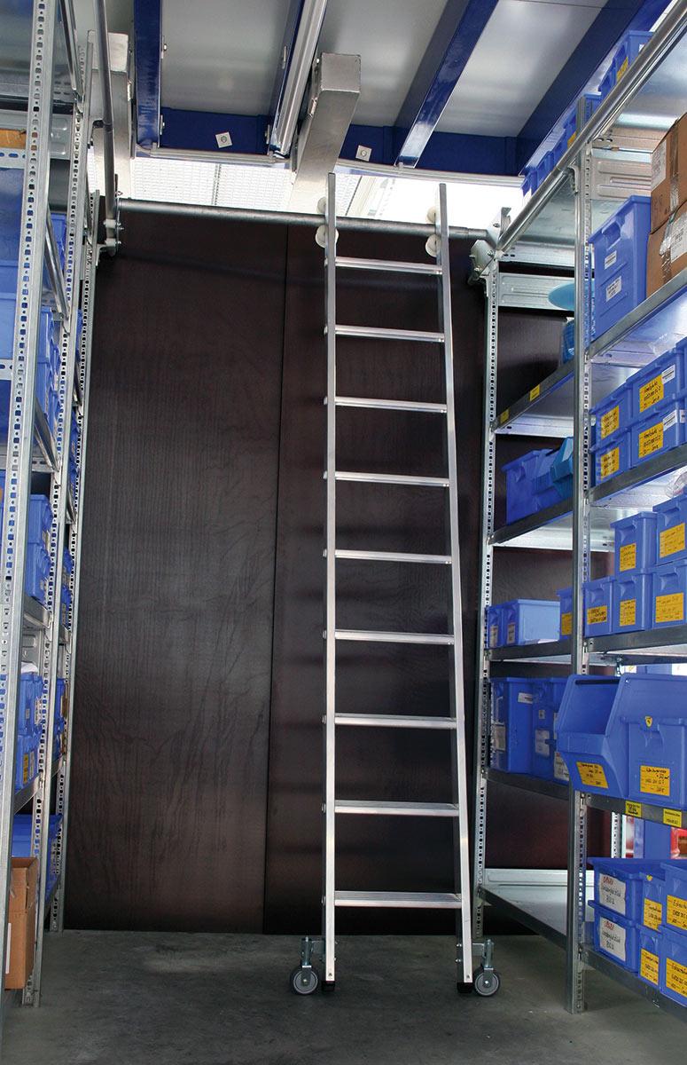 euroline Regalleiter PREMIUM für Doppelregal Alu Stufen