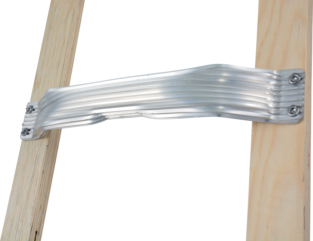 Krause Alu-Holz-Dachleiter 8 Sprossen