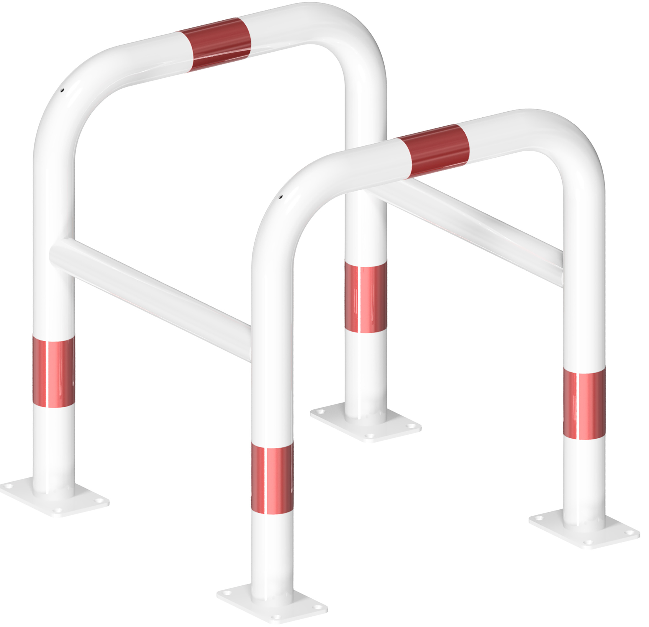 Schake Absperrbügel Stahl OE Ø 60|48 mm weiß | rot