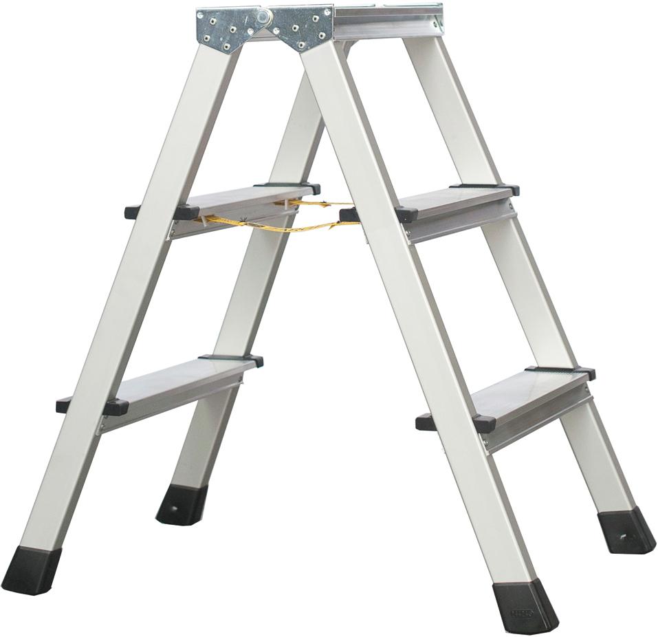 ZARGES Stufen Stehleiter XLstep B - 2x3 Stufen