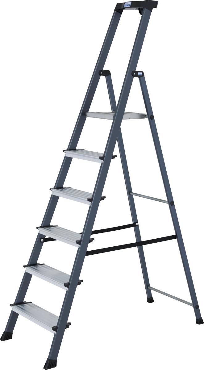 Krause Alu-Stufenstehleiter Securo® eloxiert 6 Stufen