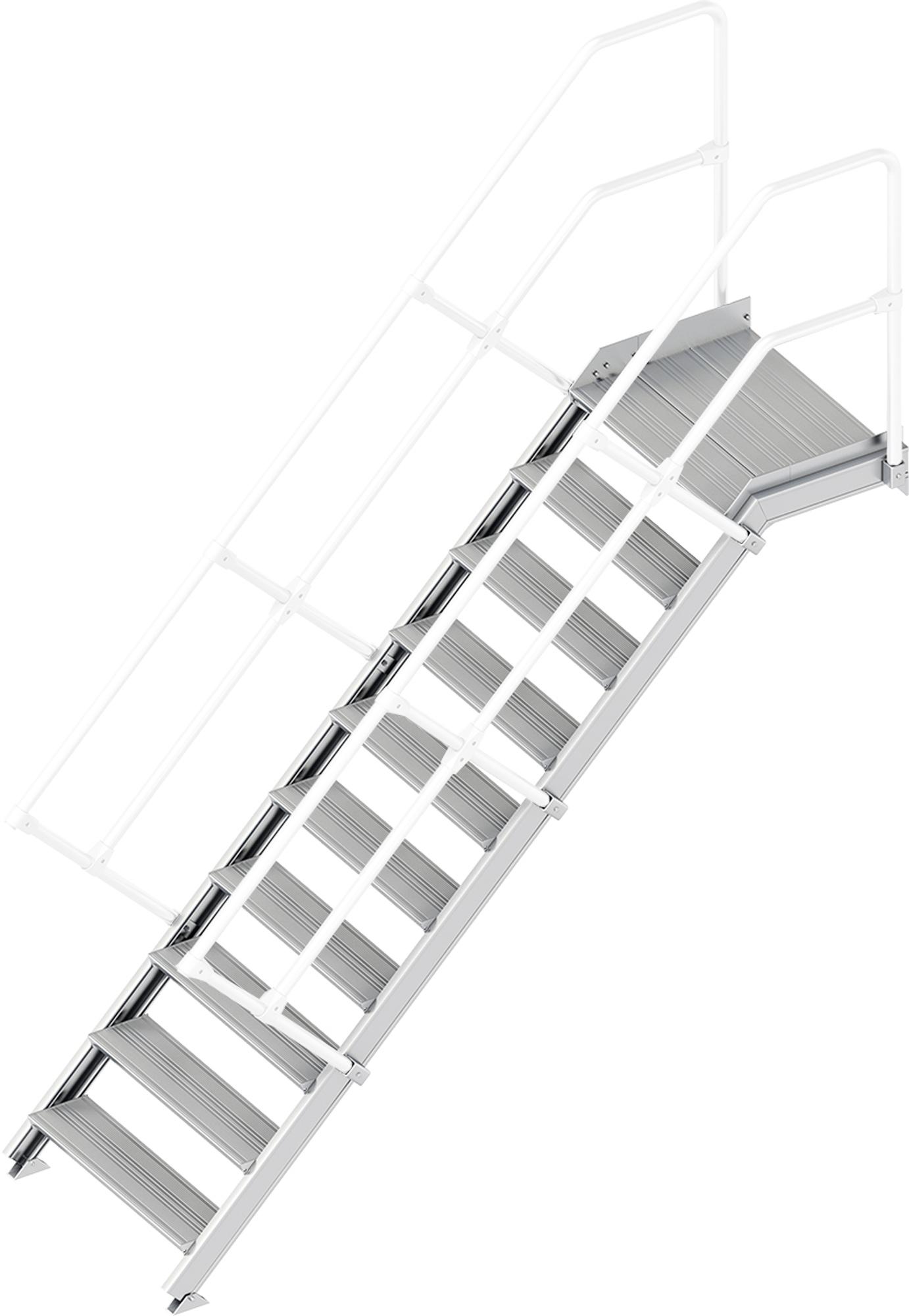 Layher Plattformtreppe 45° 10 Stufen - 800 mm breit
