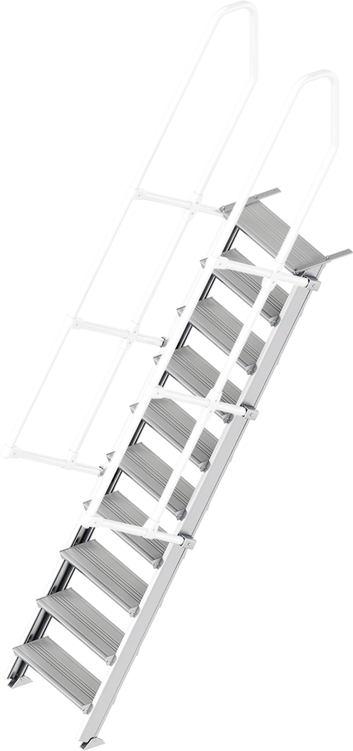 Layher Treppe 60° 10 Stufen - 600 mm breit