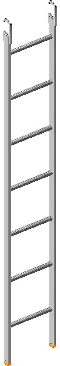 Layher Stahl Etagenleiter T19