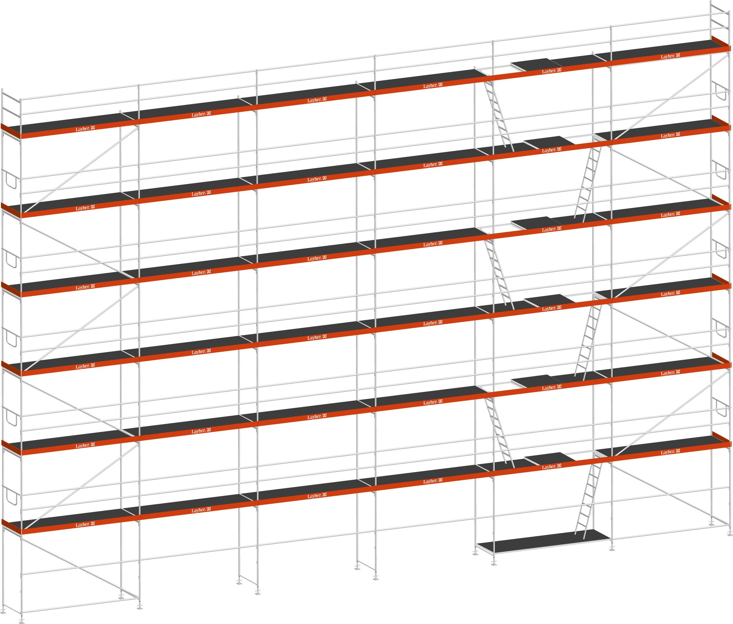 Layher Blitz Gerüst 70 Stahl 261 m²
