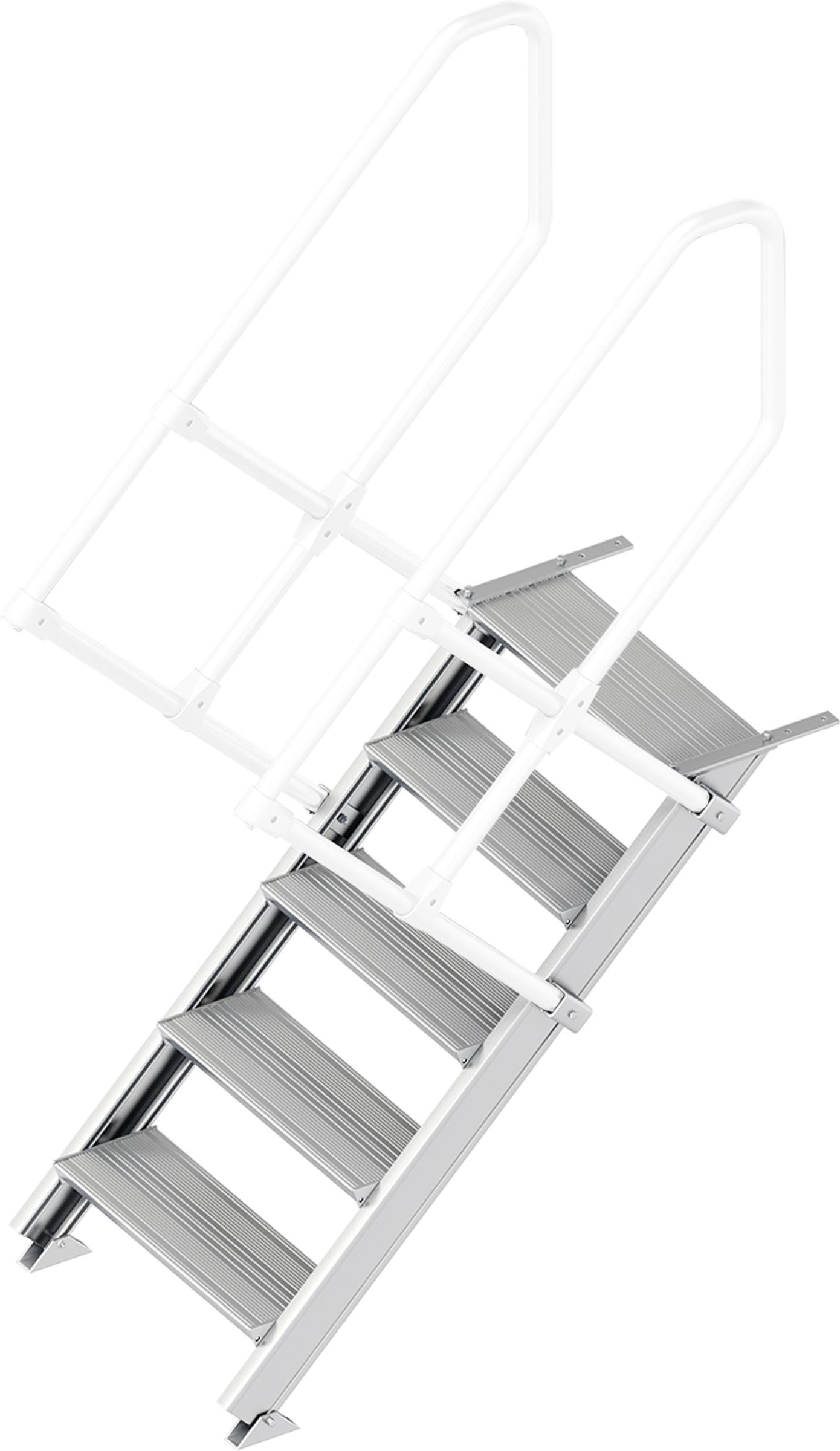 Layher Treppe 45° 5 Stufen - 600 mm breit