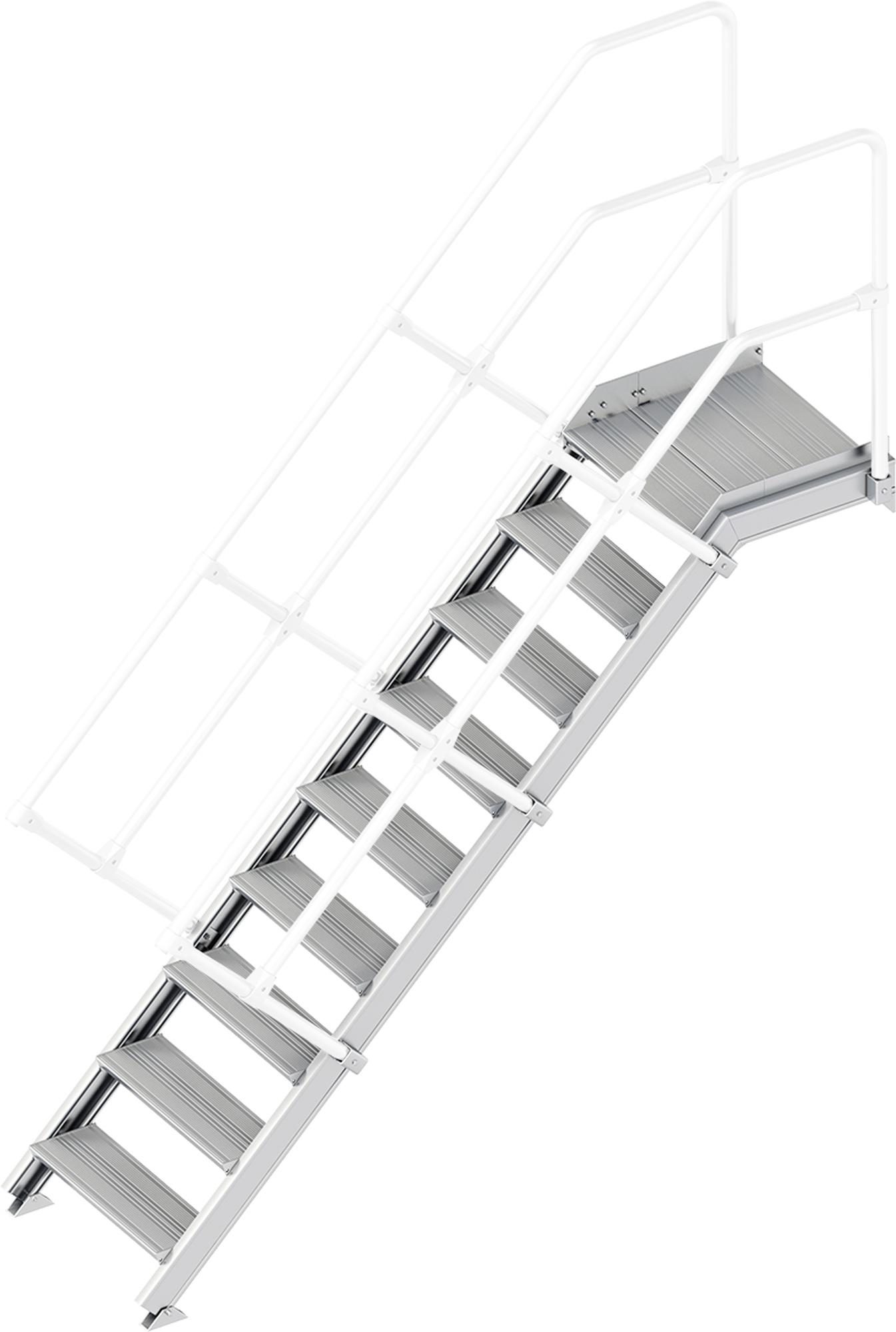 Layher Plattformtreppe 45° 9 Stufen - 600 mm breit