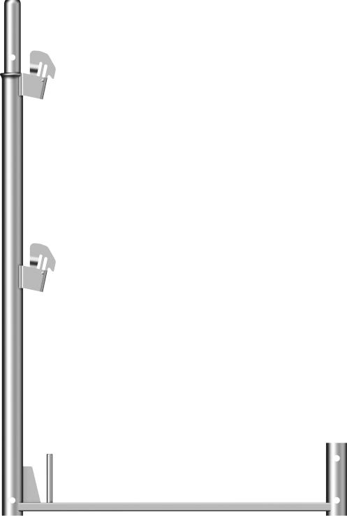 Layher Blitz Geländerstütze Stahl 1,00 x 0,73 m