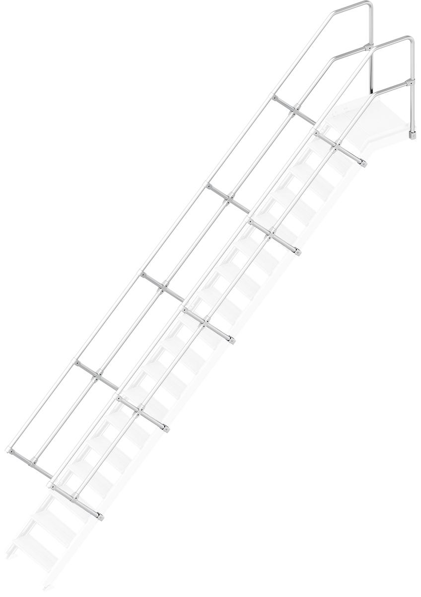 Layher Handlauf Geländer Plattformtreppe 45° 18 Stufen