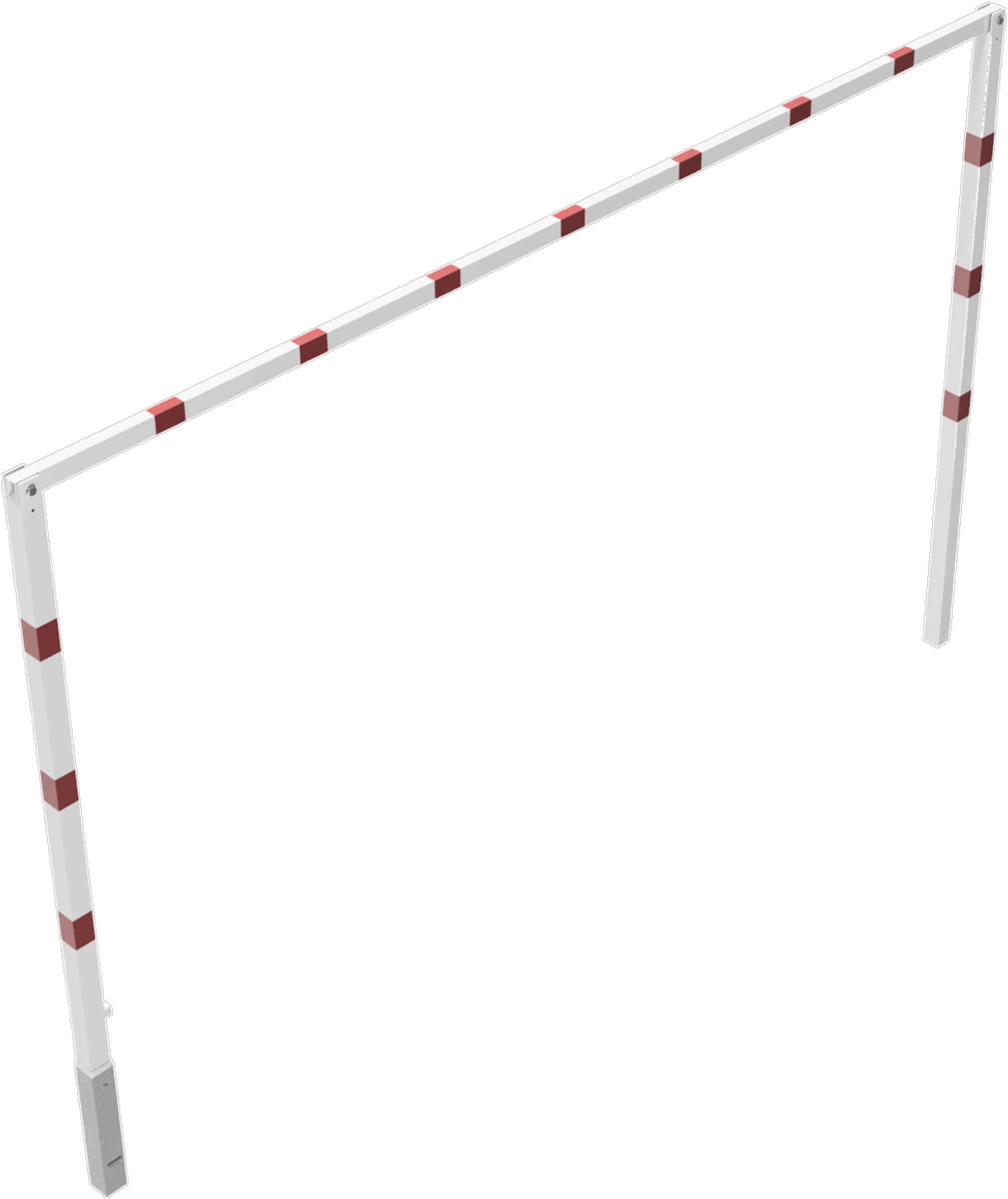 Schake Höhenbegrenzer - 2 Standpfosten Stahl 70 x 70 mm weiß | rot