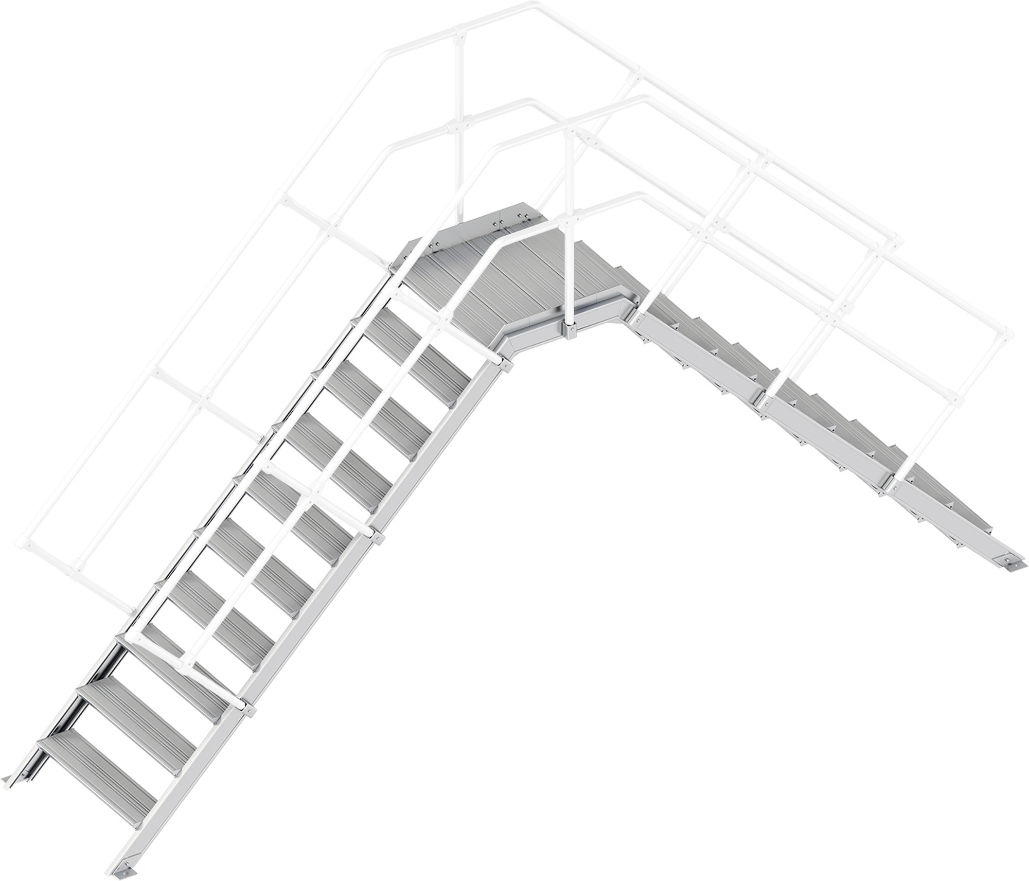 Layher Übergang 45° 10 Stufen - 800 mm breit