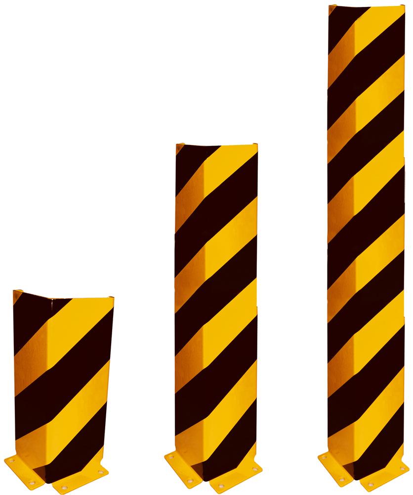 Schake Anfahrschutzwinkel Stahlblech 6 mm gelb | schwarz